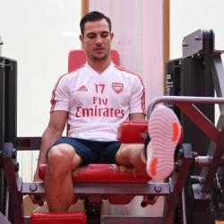 Galeria: Soares i Mari w centrum treningowym Arsenalu