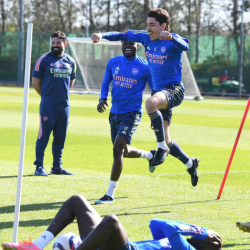 Galeria: Trening przed meczem z Evertonem
